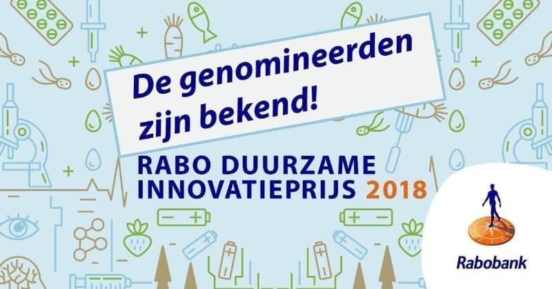 Rabobank Duurzame Innovatieprijs 2018