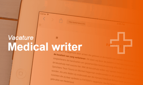 vacatures patientmedical writer, content manager, zorg impact